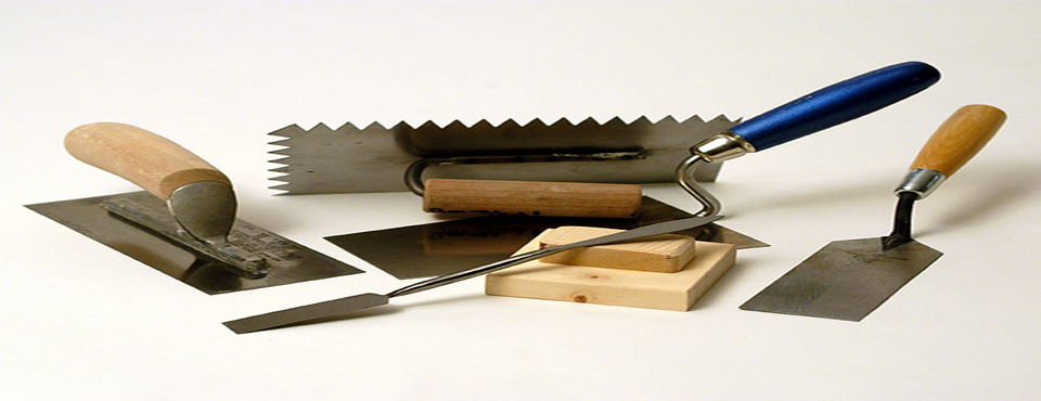 We have all the right tools for plastering any surface.